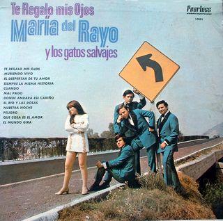 Portada del LP Maria del Rayo y los Gatos Salvajes