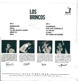 Contraportada del 1er LP de Los Brincos editado en México