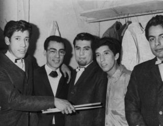 Los Seven Teens con Manolo Muñoz