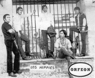 Los Hippies - Postal promocional