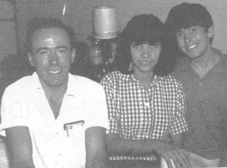 Olivia con Micky Salas y 'el monstruo'
