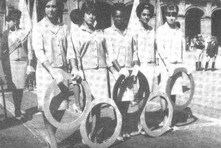 Ela Laboriel promocionando los JJ OO de 1968