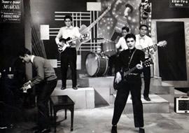 Rene con los Blue Caps, en 1959