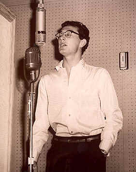 Buddy Holly en estudio de grabación