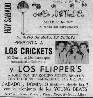 Los 4 crickets Recorte de periodico