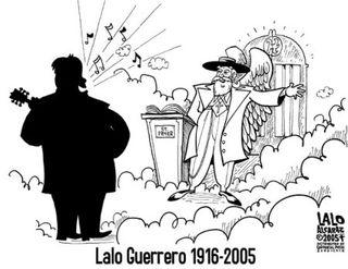 Lalo Guerrero - caricatura LA Weekly