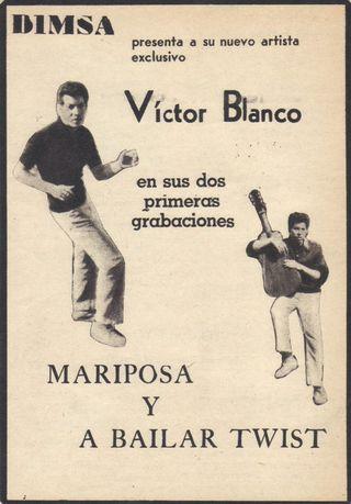 Victor blanco - propaganda primer disco sencillo